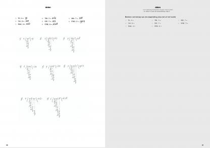 staartdeling voorbeeld pagina